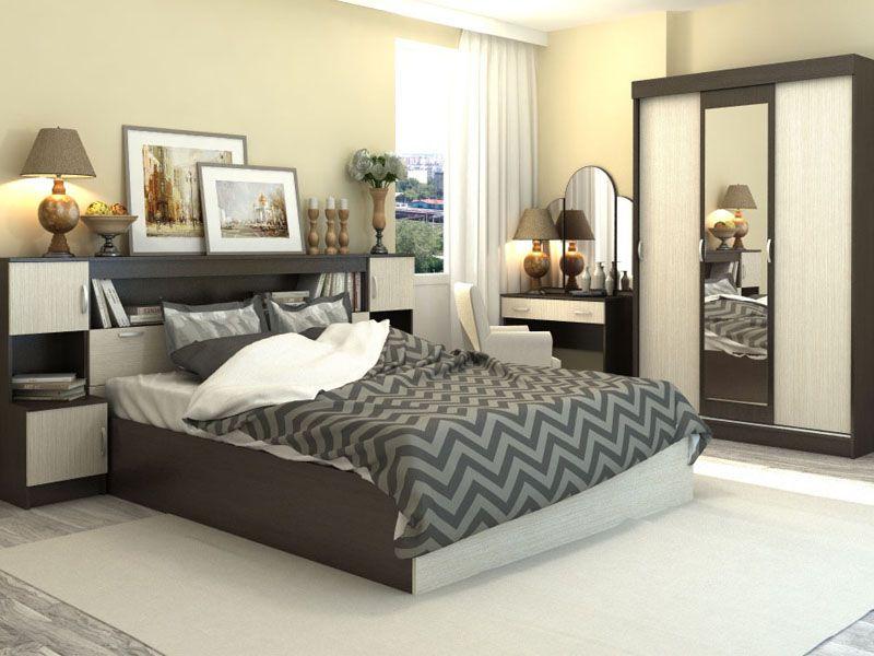 Спальня Бася (венге/дуб беленый)