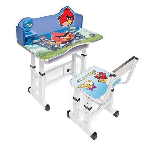 Детский комплект мебели «Растём вместе» (парта+стул) «Птицы»