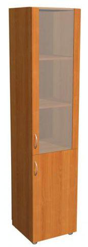 """Шкаф 2 дверный со стеклом 5.09Ф - мебельная фабрика """"Волхова"""""""