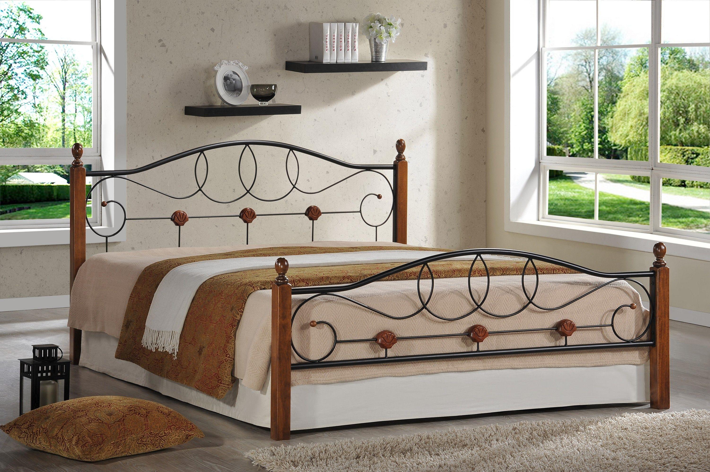 Кровать двуспальная AT 822 (метал- каркас) + основание