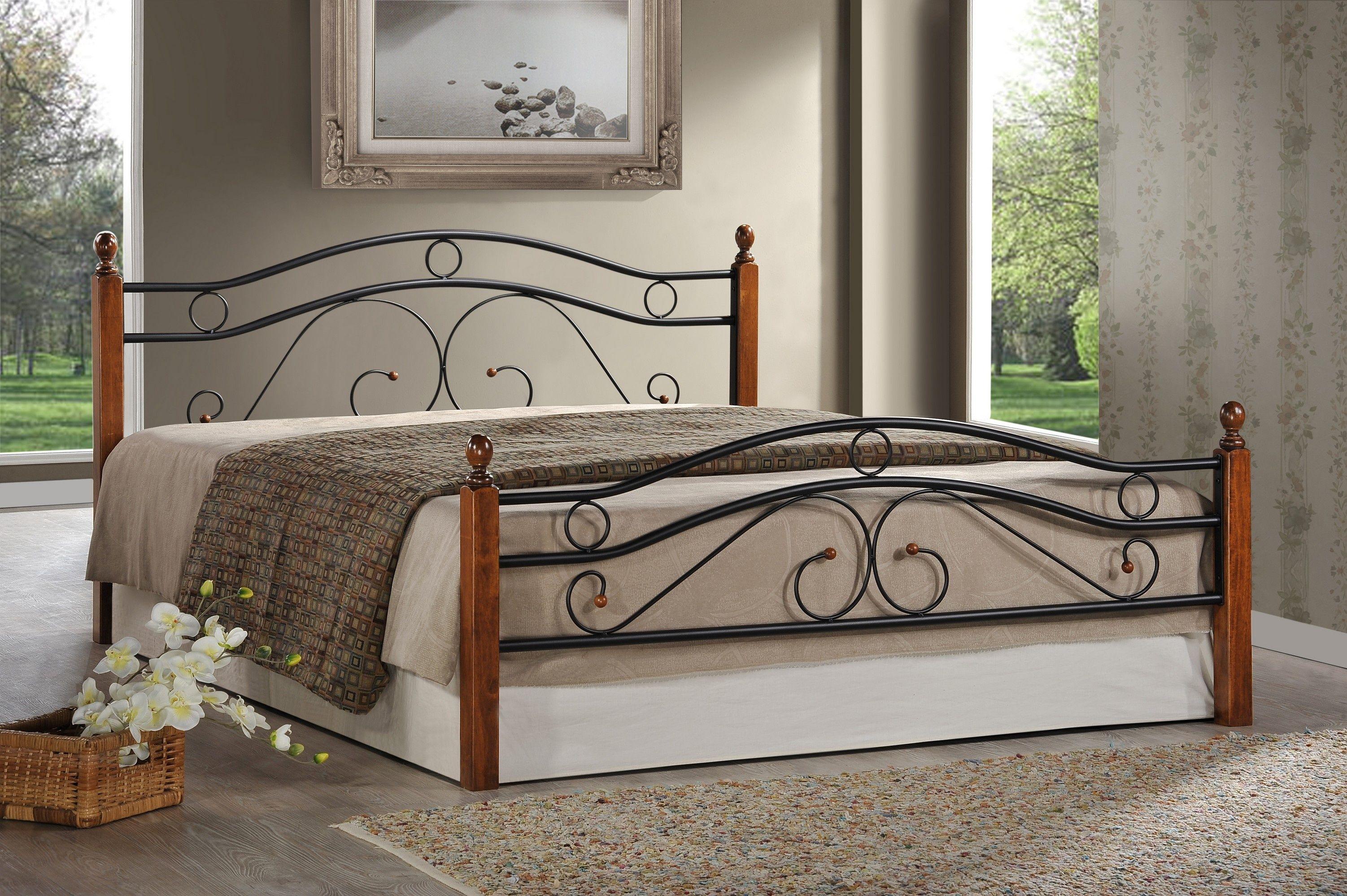 Кровать кованая AT 803 (метал- каркас) + основание 5282