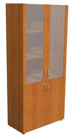 "Шкаф со стеклом 5.16Ф - мебельная фабрика ""Волхова"""