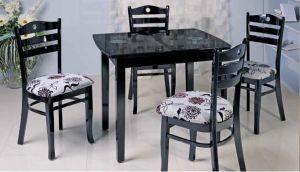 Столы и стулья:Обеденные столы:Обеденный стол A02 black flower