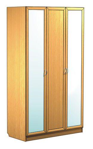 """Трехдверный шкаф с 2-мя зеркалами С 404/2 М - мебельная фабрика """"Волхова"""""""