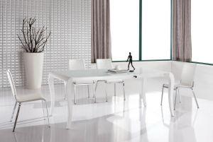 Столы и стулья:Обеденные столы:Cтол-трансформер обеденный M-100 (белый лак) раздвижной