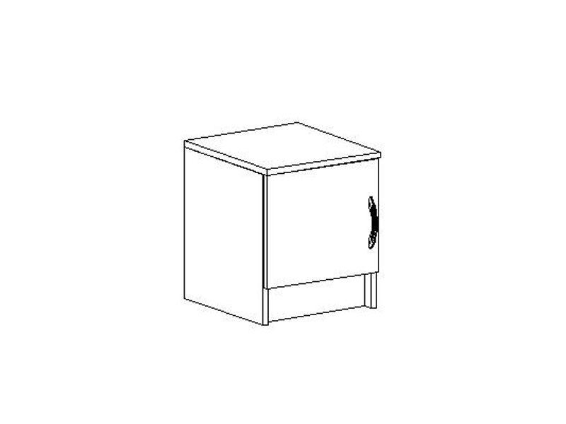 Тумба прикроватная Бася, ТБ 551 (венге/дуб беленый)