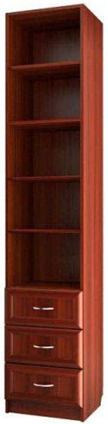 """Шкаф для книг узкий с 3-мя ящиками С 415 М - мебельная фабрика """"Волхова"""""""