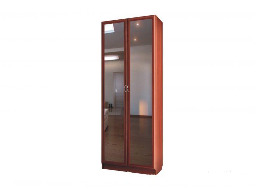 """Шкаф для платья и белья двухдверный с зеркалами C 402/1 M - мебельная фабрика """"Волхова"""""""