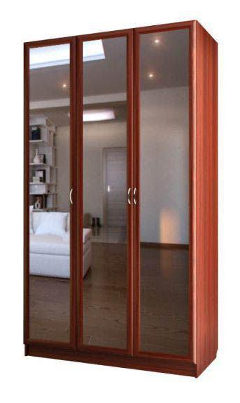 """Шкаф для платья и белья трехдверный с тремя зеркалами С 404/3 М - мебельная фабрика """"Волхова"""""""