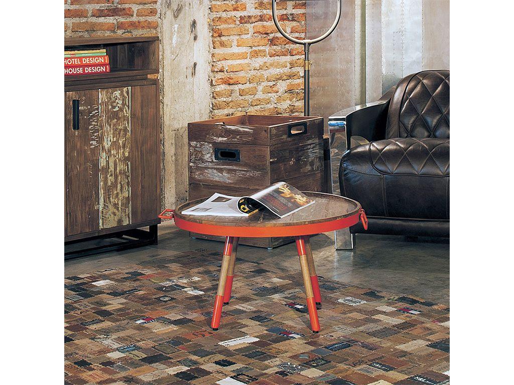 Стол кофейный из тика Orange 80