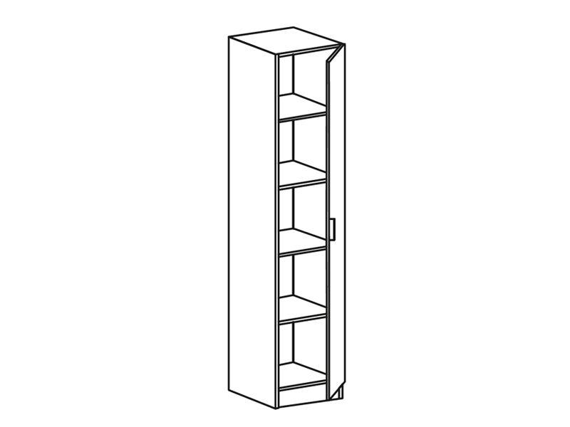 Шкаф 1-створчатый Фиеста ШК 400 (венге/дуб беленый)