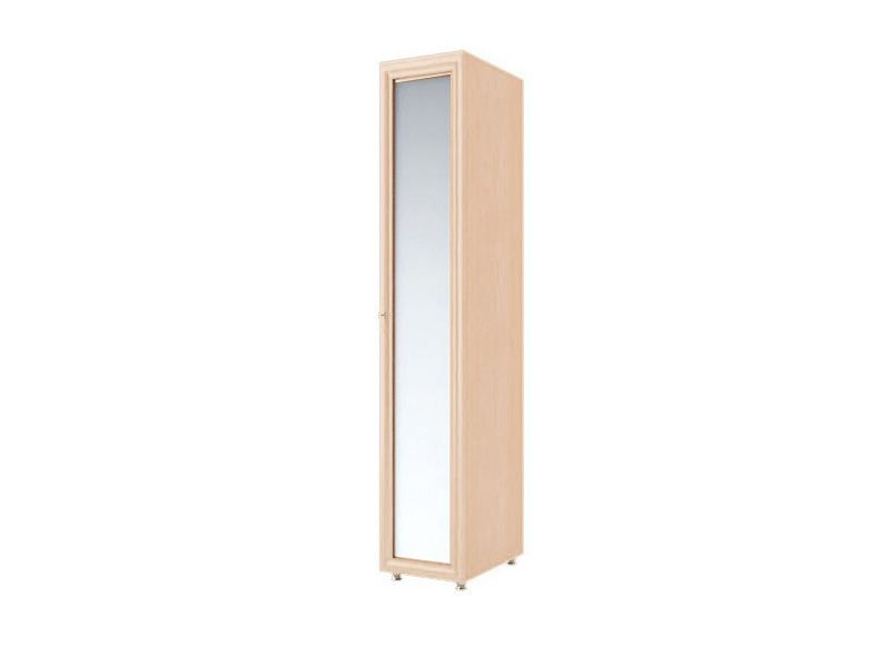 Шкаф пенал с зеркалом Амелия, модуль №5 (дуб млечный)