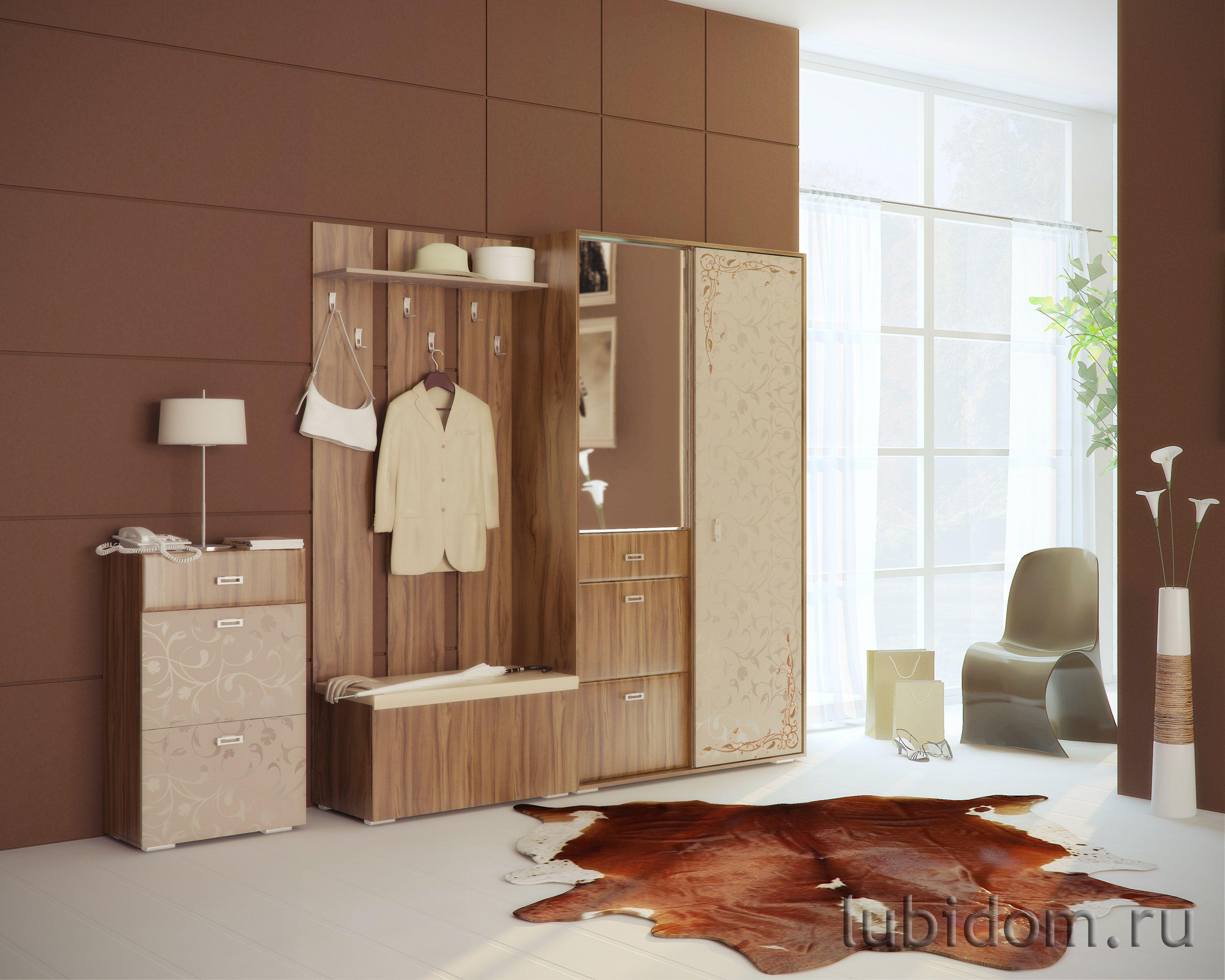 Мебель для прихожей «Латте» прямая