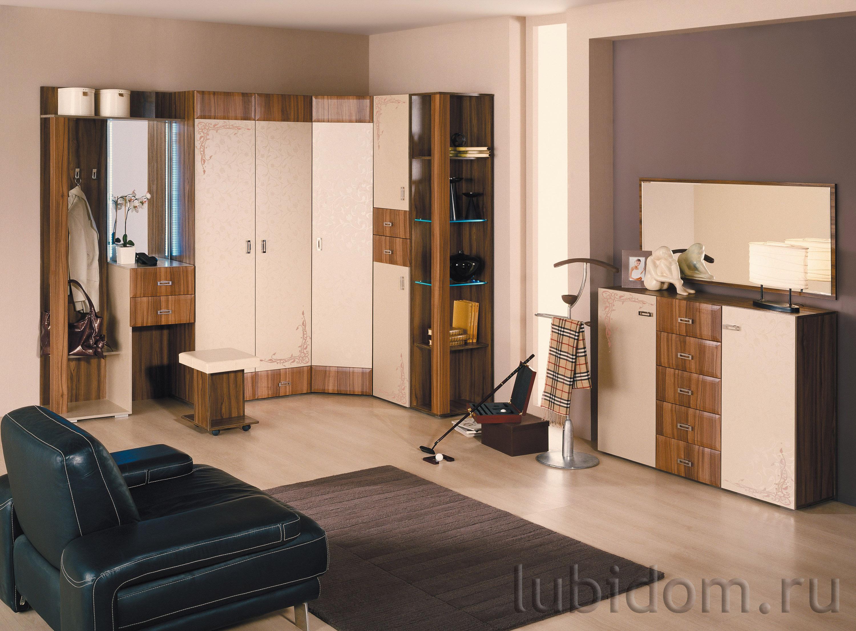 Мебель для прихожей «Латте» угловая