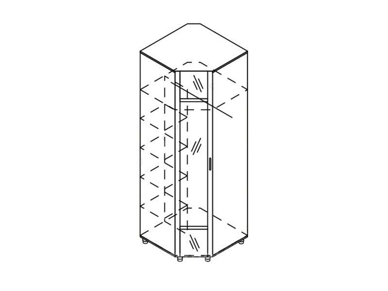 Шкаф угловой с зеркалом Камелия, Ш-УГ-Z