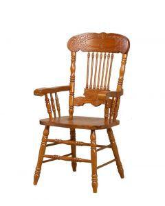Столы и стулья:Стулья для кухни:Стул CCKD - 838 A GR DARK с подлокотниками (Дуб)