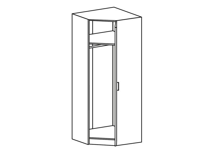 Шкаф угловой универсальный Фиеста ШК 405 (миланский орех)
