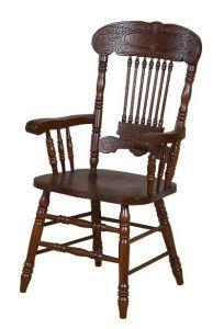 Столы и стулья:Стулья для кухни:Стул CCKD - 838 A HN GLAZE с подлокотниками (Темный орех)