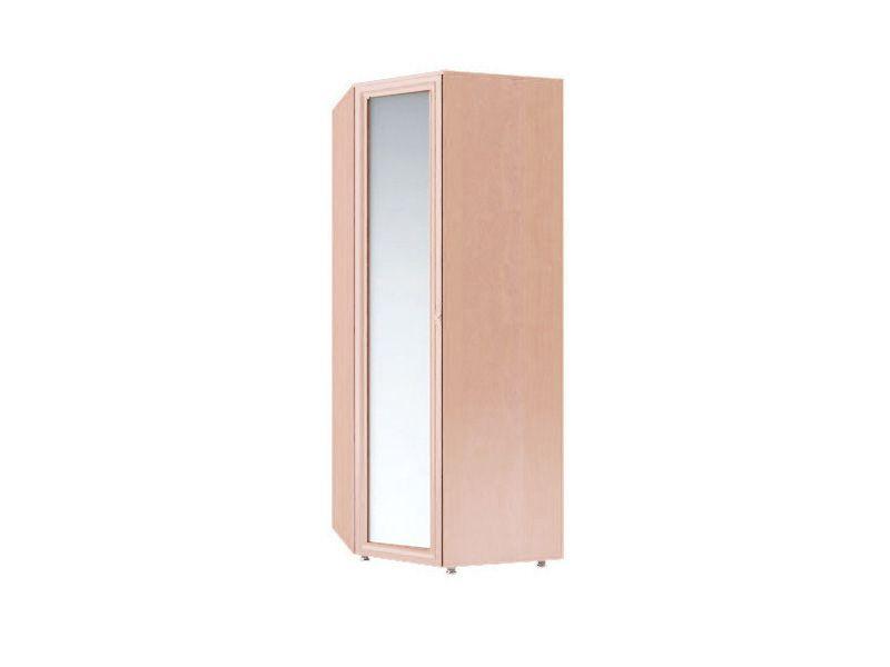 Шкаф угловой с зеркалом Амелия, модуль №4 (дуб млечный)