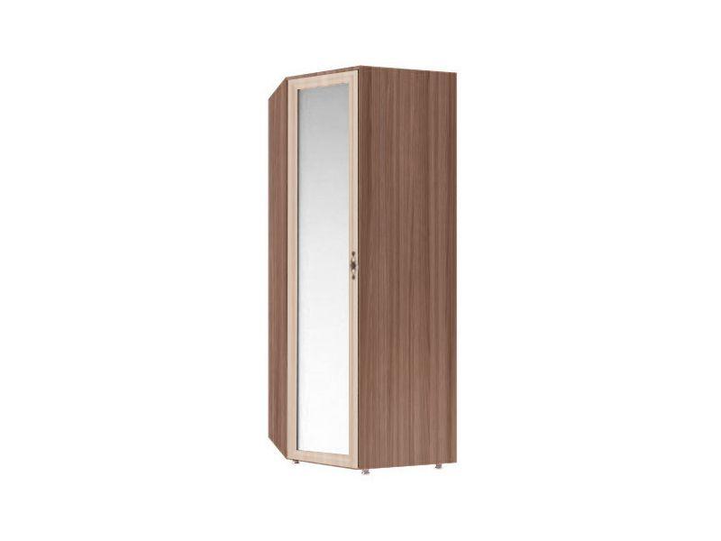 Шкаф угловой с зеркалом Амелия, модуль №4 (ясень шимо темный/ясень шимо светлый)