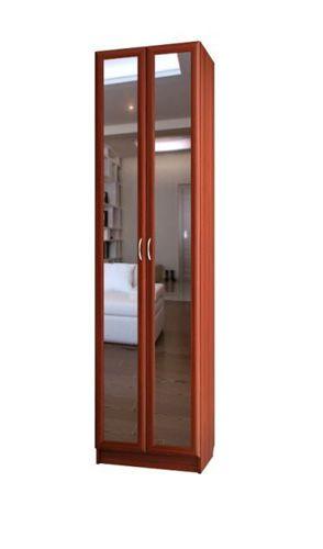 """Шкаф для платья двухдверный с зеркалами C 454/1 - мебельная фабрика """"Волхова"""""""