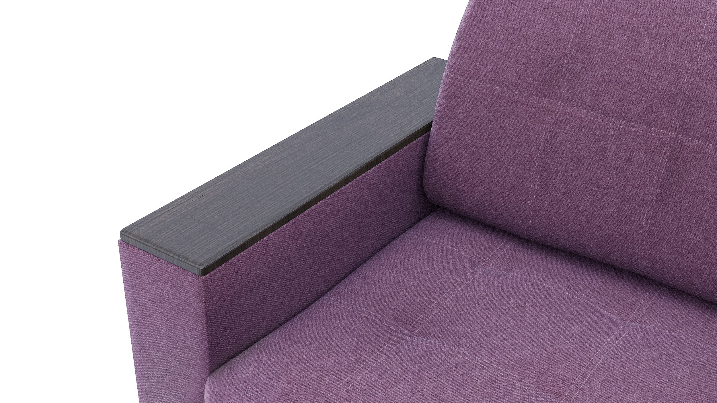 Диван прямой АТЛАНТА, ткань Shaggy Lilac