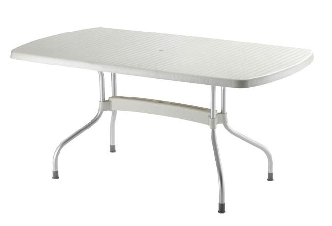 Стол прямоугольный Olimpo Лен, хромированные ножки