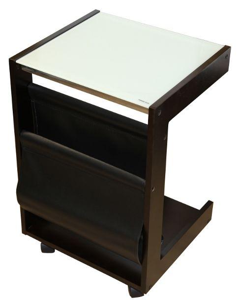 Столик кофейный с газетницей на колесиках SR-0649