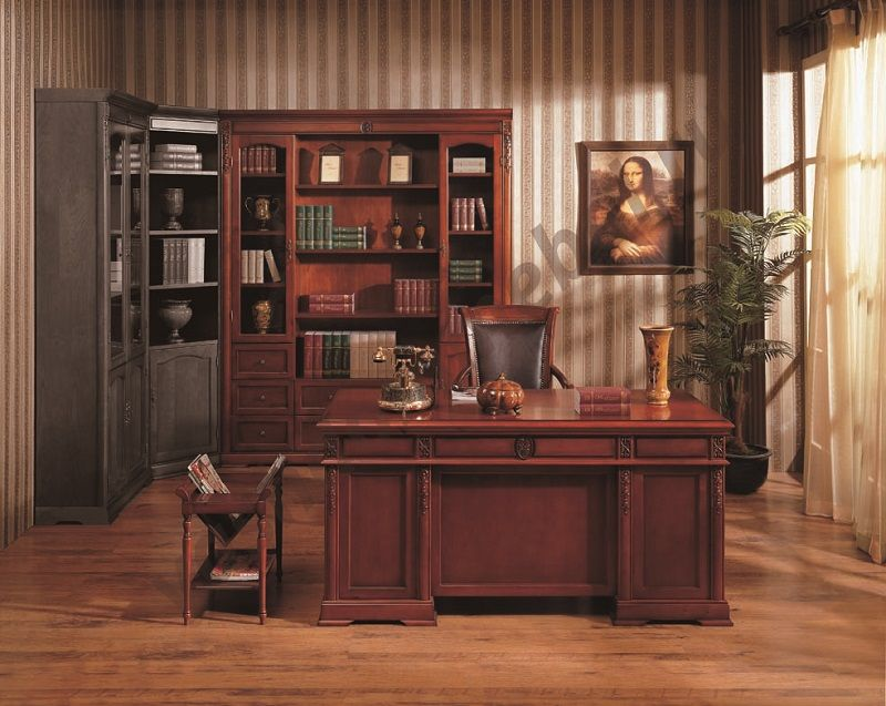 "Шкаф книжный MK-1747-CR, 4-х дверный (RIGHT), ""вишня"""