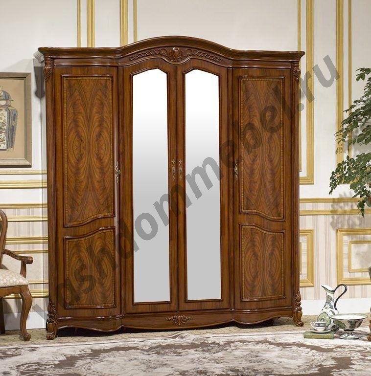 """Шкаф 4-дверный MK-2904-BR с зеркалами """"Виолетта"""""""