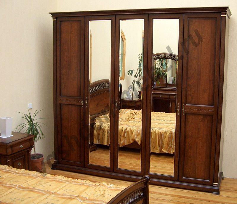 "Шкаф 5-дверный ""Нотти"" MK-1719-DN с 3-мя зеркалами"