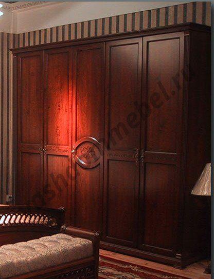 "Шкаф 5-дверный ""Нотти"" MK-1720-DN, цвет: темный орех"