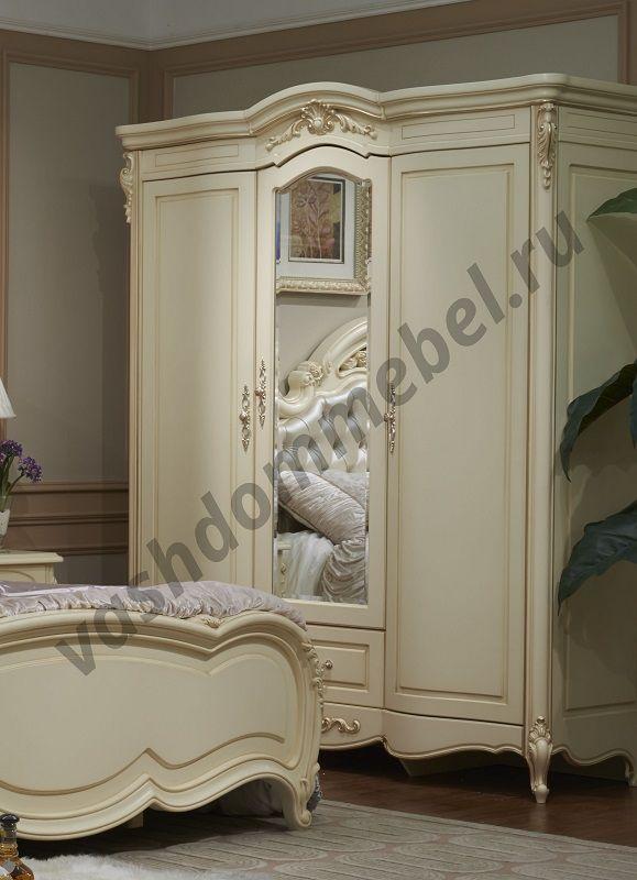 """Шкаф """"Милано"""" MK-1836-IV, 3-дверный с зеркалом, 175х64х216 см"""