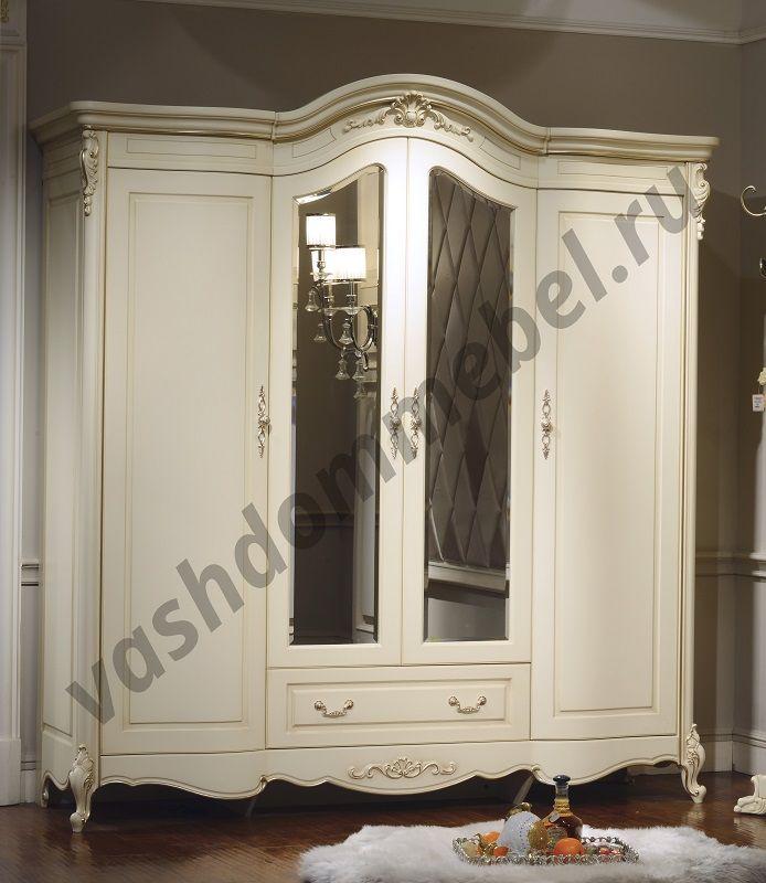 """Шкаф """"Милано"""" MK-1838-IV 4-дверный с зеркалом, 209х64х224 см"""