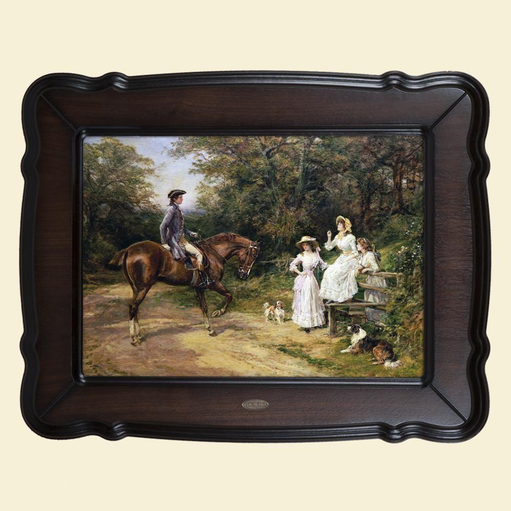 Картина «Встреча у изгороди»