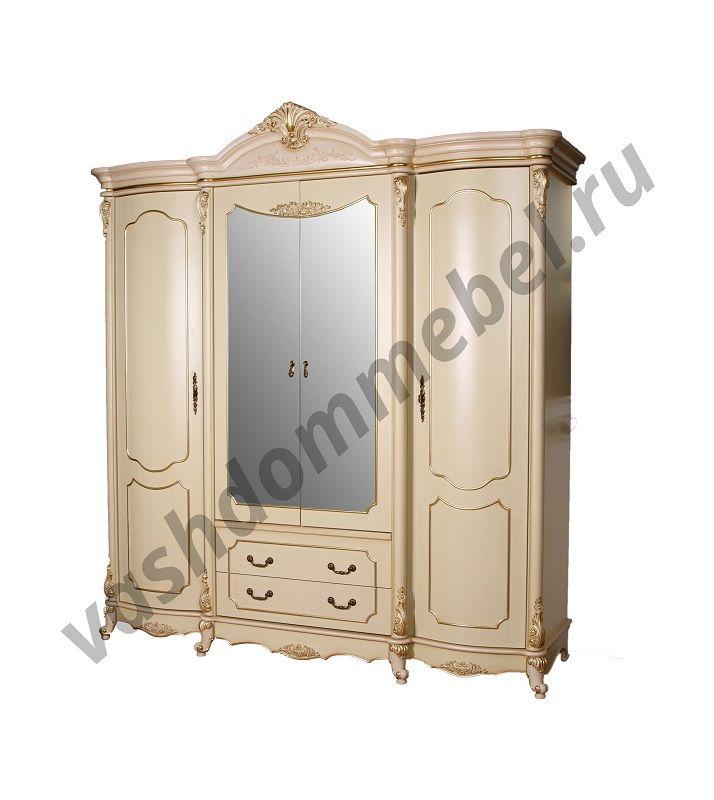 "Шкаф MK-3022-BG ""Викория"" 4-х дверный с зеркалом"