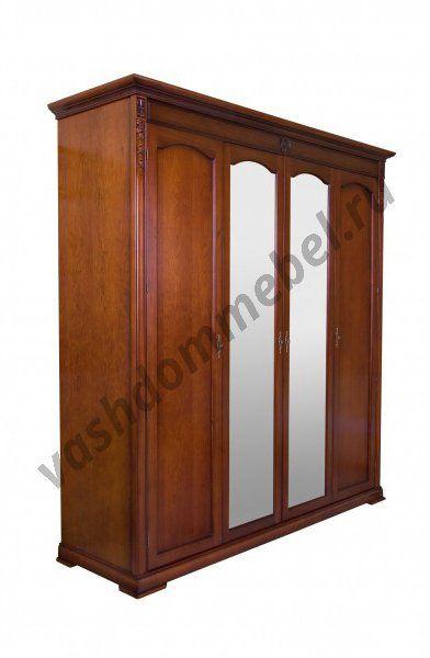Шкаф Валенсия MK-1743-DN 4-х дверный с зеркалом, 210*65*220 см