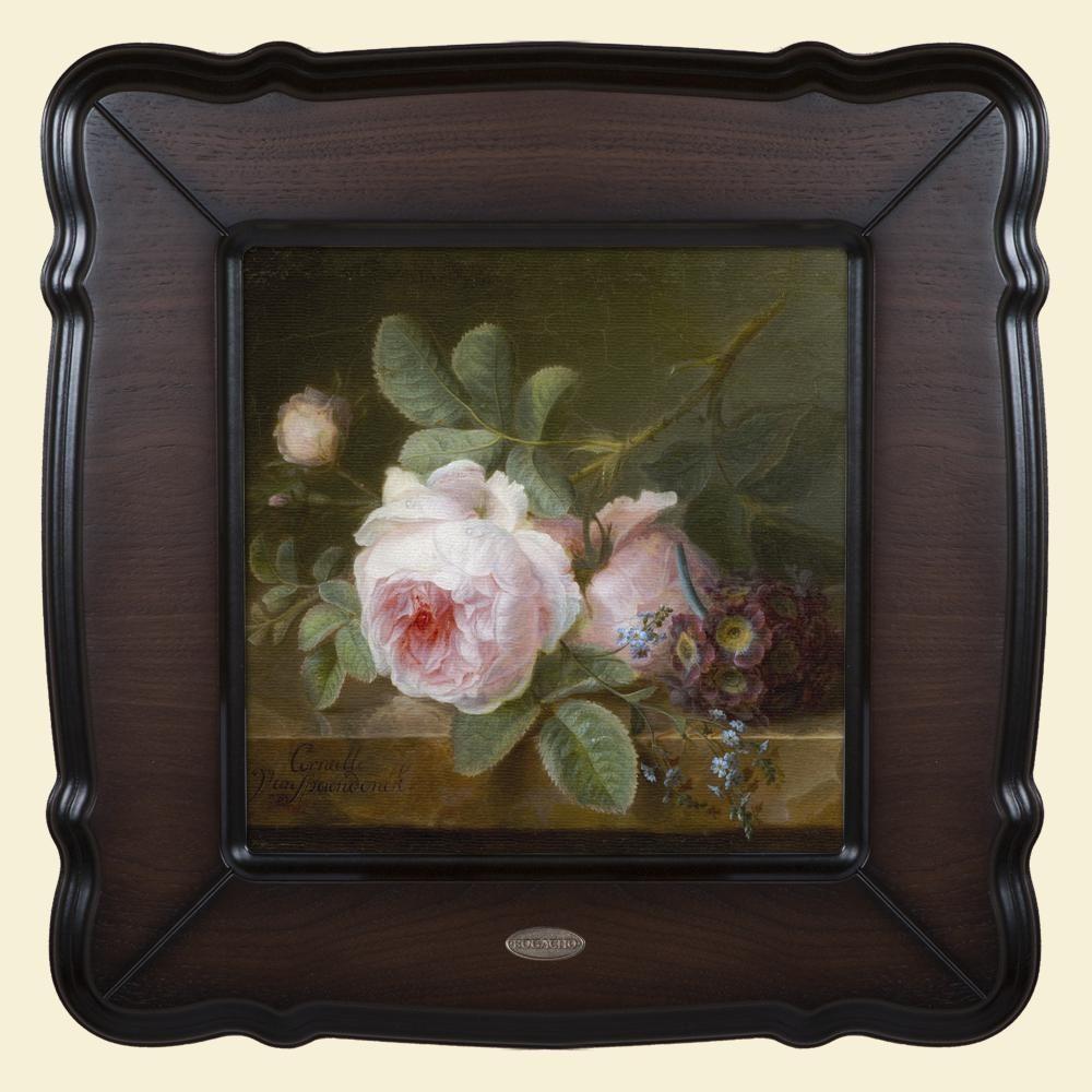 Картина «Розы на каменной столешнице»