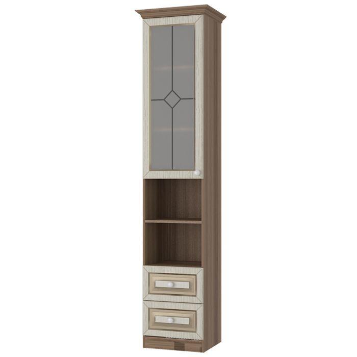 Шкаф комбинированный Делис со стеклом