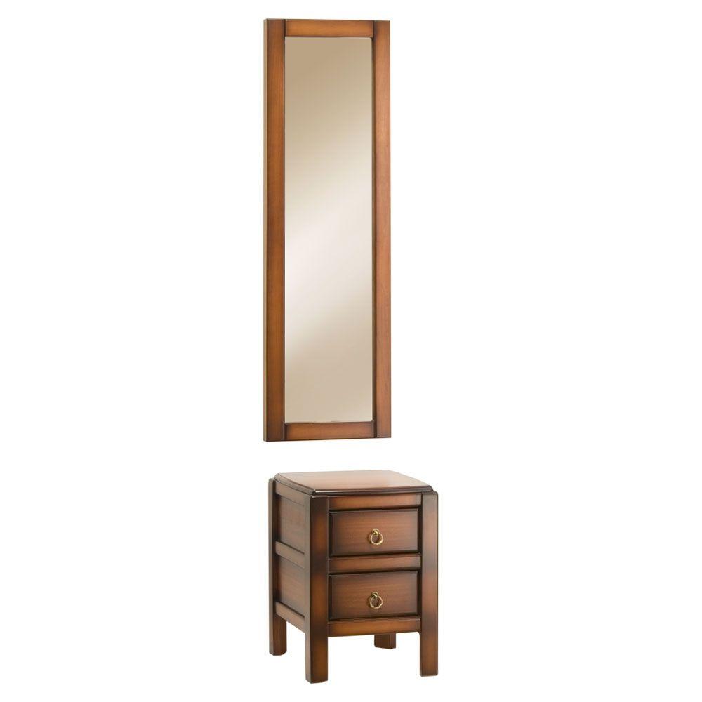 Зеркало настенное Лотос-Комби-6/40 и тумба Лотос-6