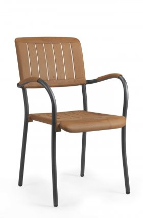 Кресло уличное с подлокотниками для кафе MUSA