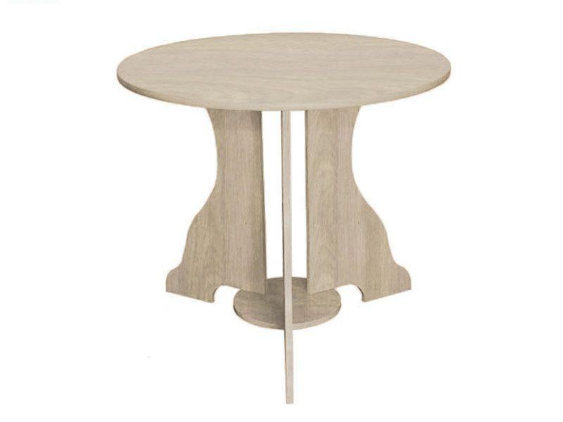 Стол №1 d-850 (ясень шимо светлый)