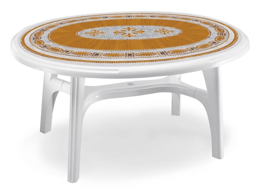 Стол OVOLONE 1500 белый с мозаикой MOSAIC TOP