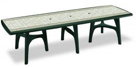 Стол PRESIDENT 3000 зеленый с мозаикой TILE DECORATION