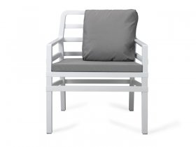 Кресло пластиковое с двумя подушками Aria