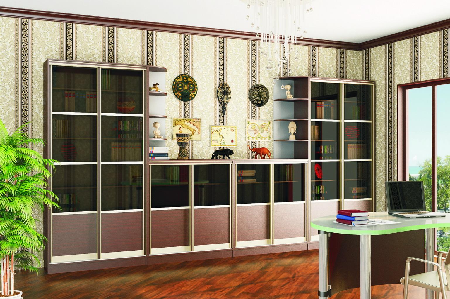 Книжный шкаф расстановка №20 (Каштан)
