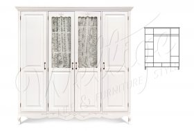"""Шкаф для одежды 4-х дв. """"Джульетта"""""""