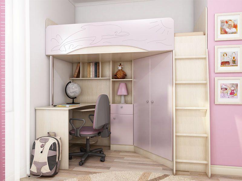 Детская корпусная мебель Бэмби-4 (розовый металлик)