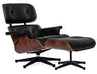 Lounge Chair & Ottoman черная кожа/палисандр