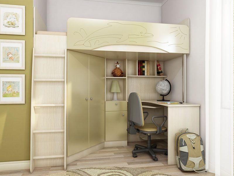 Детская корпусная мебель Бэмби-4 (золотистый металлик)